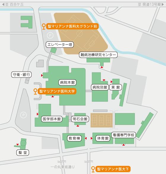 大学敷地内地図